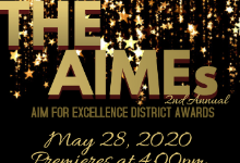 The AIMEs: Aim for Excellence District Awards 2020