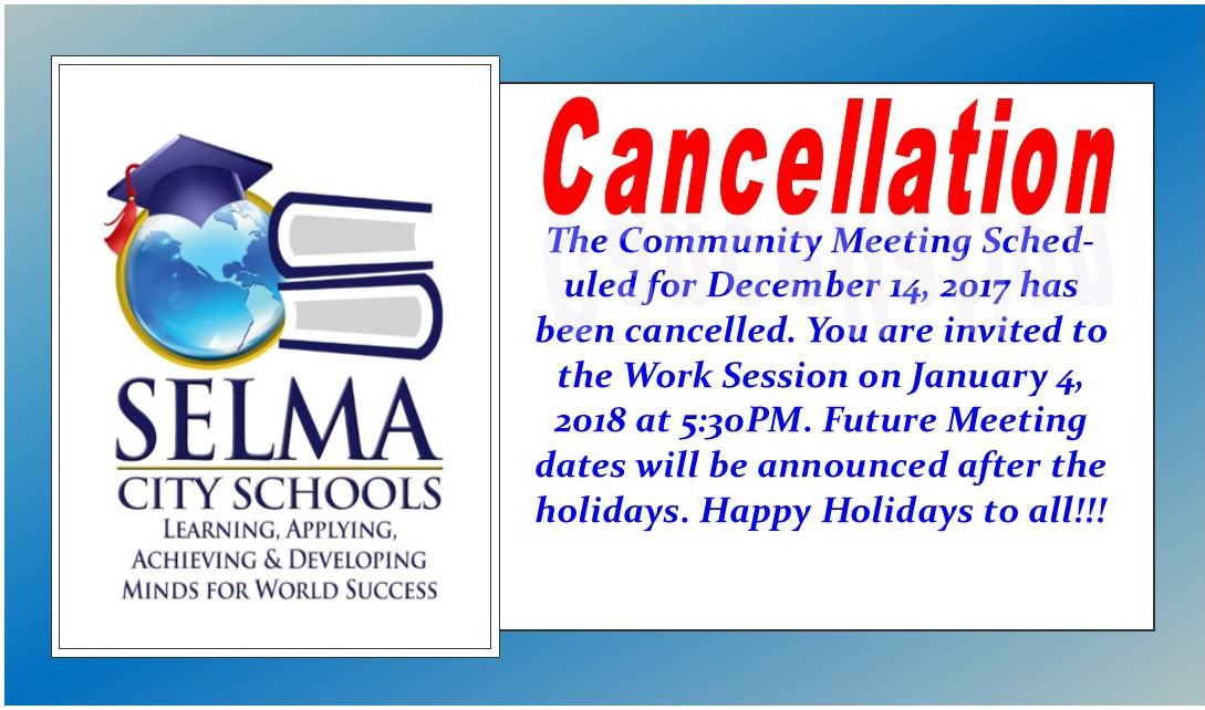 Meeting Cancelled Announcement