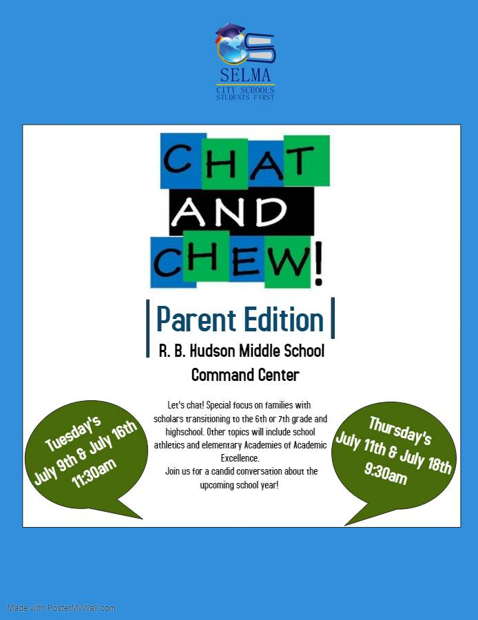 Chat and Chew with the Superintendent