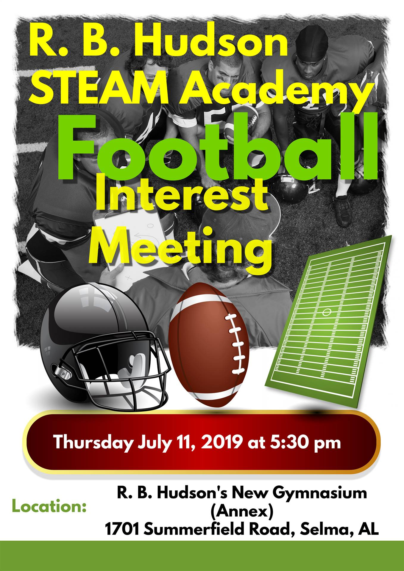 R. B. Hudson Football Interest Meeting